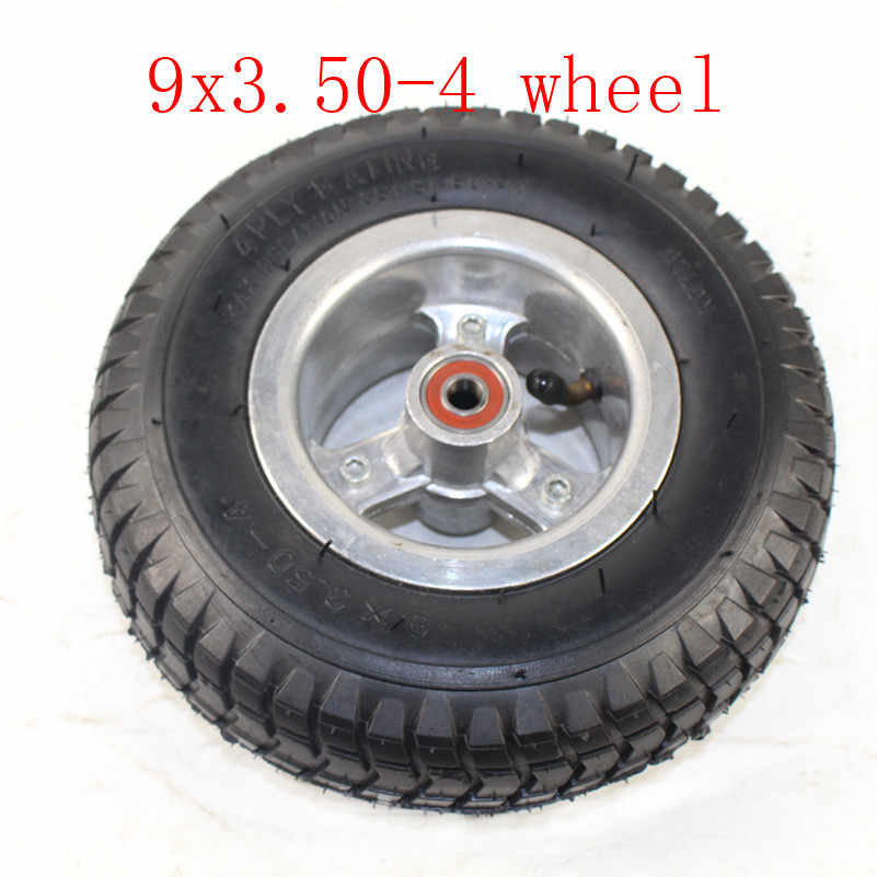 Good Quality 9 Inch Wheel 9x3.50-4 Tires Tyre Inner Tube and Rim Combo for Gas Scooter Skateboard Pocket Bike Electric Tricycle