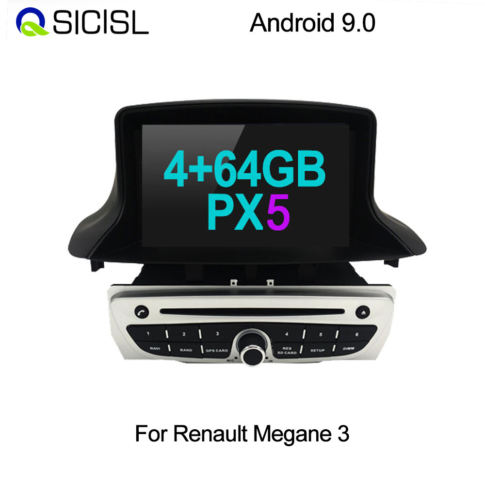 PX6 64 GB Android 9.0 Car Radio DVD player for Renault <font><b>Megane</b></font> <font><b>3</b></font> 2009-2015 / Fluence Multimedia car head unit <font><b>GPS</b></font> navigation image