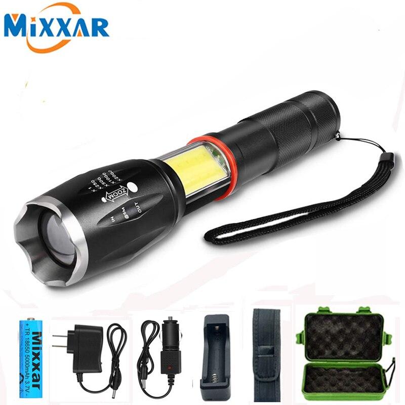 Dropshipping LED 8000 Lumens Handheld Tactical Flashlight COB Lantern Magnetic 5 Modes Water Resistant flashlight for Emergency