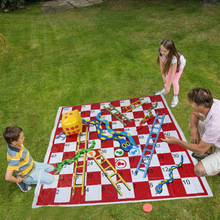 Inflatable Garden Snakes and Ladders Dice Game Play Mat Party Props Inflated Toss Game Toys For Adult and Children