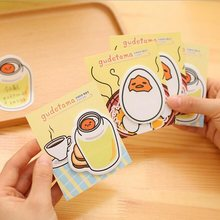1 Stk/partij Leuke Gudetama Serie Mini Memo Notepad Notebook Memo Pad Sticky Notes Zelfklevende Briefpapier(China)