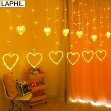 LAPHIL 220V Herz LED Licht Romantische Hochzeit Dekoration Partei Hintergrund Valentinstag Geschenk Geburtstag Decor Bachelorette Party Liefert