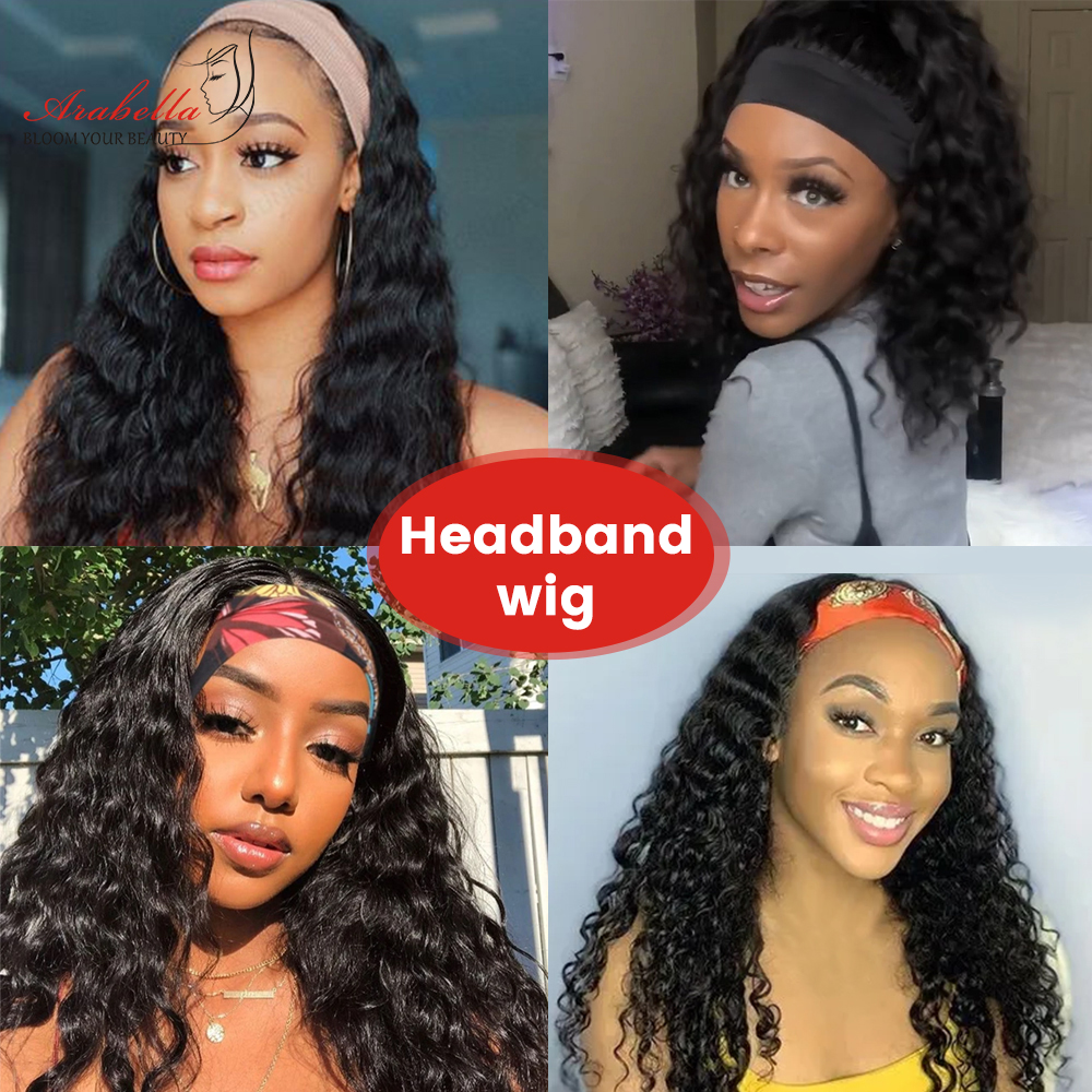 Headband Wig  Water Wave Wig  Hair Arabella Glueless Wig   Hair Wigs Headband Wig 6