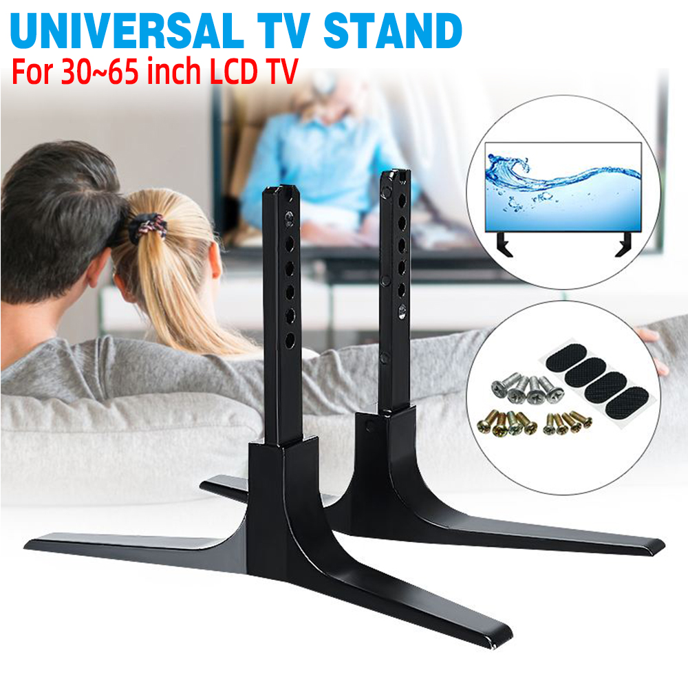 30-65 Inch LCD TV Height Adjustable Universal TV Stand Base Alloy Steel Plasma LCD Flat Screen Table Top Pedestal Easy Install
