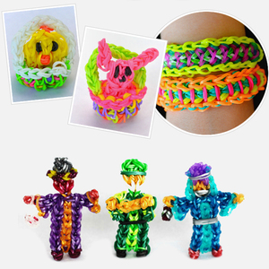 Image 2 - Rubber Rainboow Loom Bands Girl Gift for Children Elastic Band for Weaving Lacing Bracelets Toy for DIY Christmas Gift