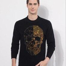 Skull Sweater Men Pullover Cloth O-Neck Long-Sleeve Winter Casual Men Fashion New Diamond