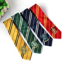 Поттер галстук аксессуары для косплея галстук Гриффиндор Поттер Слизерин Hufflepuff Ravenclaw волшебный Хогвартс Униформа Галстуки Прямая поставка