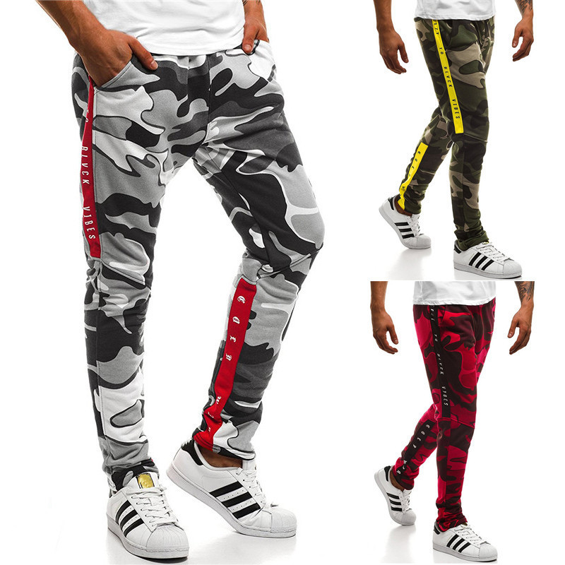 Autumn And Winter Men's Ouma Fitness Casual Pants Thick Camouflage Printed MEN'S Sports Pants