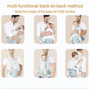 Image 5 - Adjustable 0 36M Breathable Ergonomic Baby Carriers Backpack Portable Baby Sling Wrap Cotton Infant Newborn Kangaroo Bag Hipseat