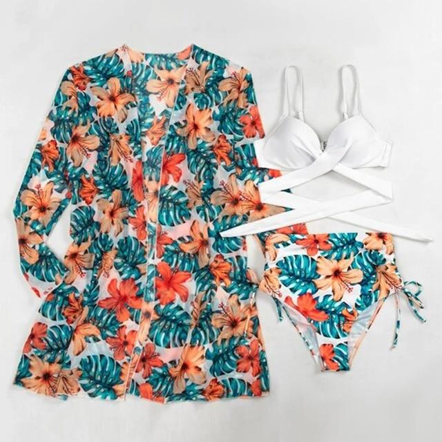 Tropical Bikini Tied Side