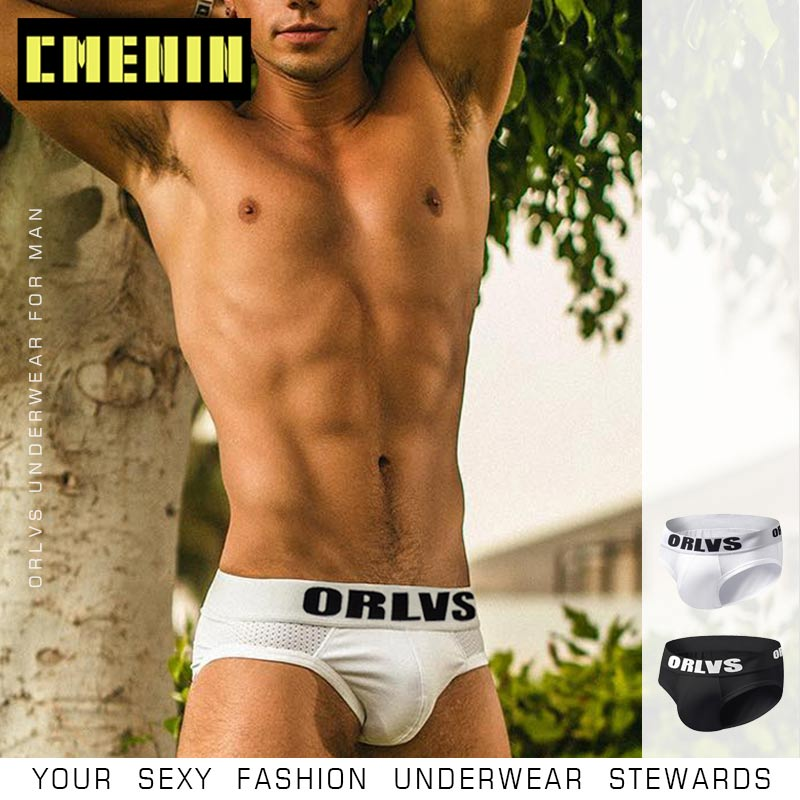 Fashion Gay Cotton Fashion Underwear Men Jockstrap Briefs Men Bikini Sexy Gay Men Underwear Cueca Male Panties Jock Strap Slip