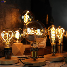 IWHD Ampoule G125 E27 LED Edison Bulb Retro Lamp 4W 220V Warm White Creative Letters Lampara Vintage Lamp Light Bulb Bombillas