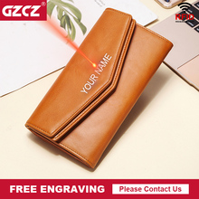 Wallet Female Clutch-Clamp Perse Genuine-Leather Women Card-Holders Coin-Purse Money-Bag