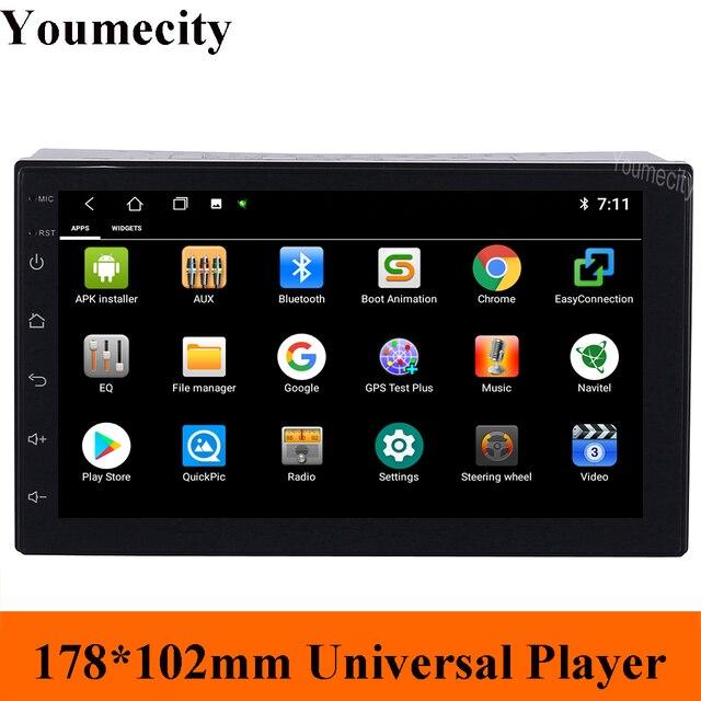 Youmecity 7 POLLICI 2 Din Android 9.0 Per NISSAN QASHQAI Tiida x trail Car dvd player Multimedia Stereo Audio radio GPS WiFi RDS