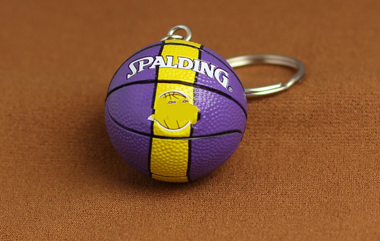 Fashion Tide brand basketball car keychain key ring girl bag hanging ornaments For Lakers Lexus Ford Celtic <font><b>BMW</b></font> Audi Benz logo image