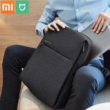 Xiaomi mijia mochila de moda Original, bolso escolar, impermeable, para exteriores, 100% pulgadas de ordenador, placa xiaomi