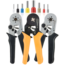 Crimping tools pliers electrical tubular terminals box mini clamp HSC8 10S 0.25-10mm2 23-7AWG 6-4B/6-6 0.25-6mm2 16-4 tools sets hsc8 6 4 hsc8 6 4a mini type self adjustable crimping plier 0 25 6mm2 terminals crimping tools multi tools hands pliers