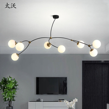 Nordic Chandelier Lighting White Lampshade Glass Bubble Ball Dining room Bedroom Shopping mall Branch