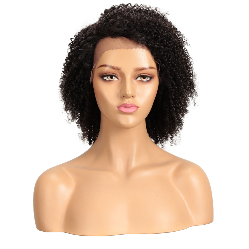 Remy Forte Lace Human Hair Wigs Curly Short Human Hair Wig 100% Remy Brazilian Hair Wigs For Women U Part Kinky Curl Lace Wigs
