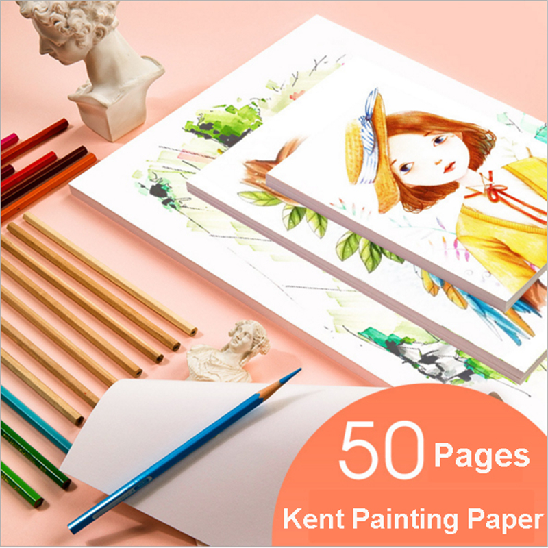 Eval Professional Kent Painting Paper Artist Sketch Paper A4/A5 50 Sheets Art Drawing Watercolor Paper Gouache Paper Art Supplie