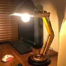 Vintage Industrial Tractor Table Lamp Light Steampunk Desk Indoor Bar Fixture Lighting Lamp Table Home Decoration Y3f4