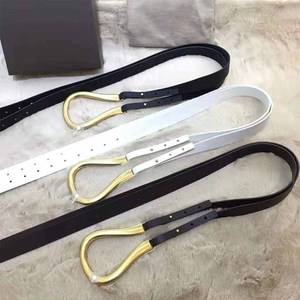 Image 4 - Cosmicchic cinturones de cuero de alta calidad para mujer, hebilla metálica Irregular, Gran semana de la moda, cinturón de cintura doble de diseñador a la moda