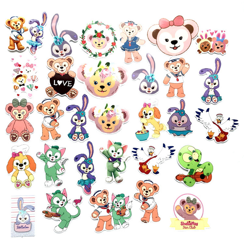 30 Pieces Of Cute Duffy Bear Luggage Graffiti With Skateboard Luggage Helmet Mobile Phone Personalized Stickers
