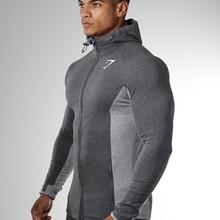 Мужская дышащая куртка, облегающие осенние и зимние эластичные колготки, мужская куртка для спорта на открытом воздухе, кардиган с капюшоно...