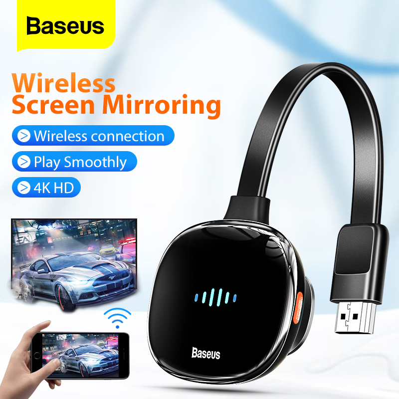 Baseus Wireless Display Adapter HD Media Video Streamer HDMI-compatible Dongle Wireless Wifi Dispaly Screen Mirroring For Phone