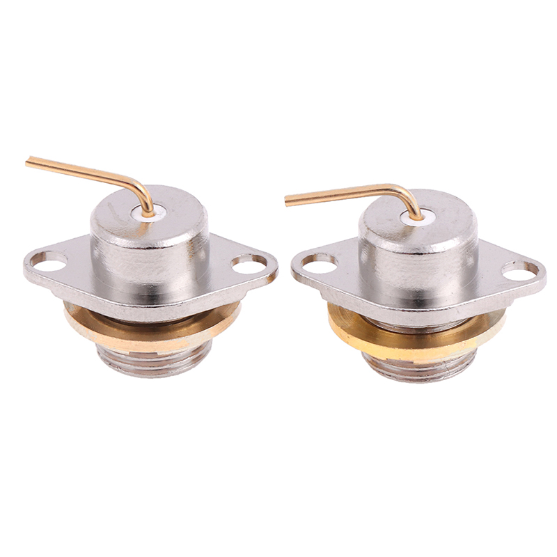 2pcs Connector High Quality SMA Male Nut Flange Panel Mount For Radio Antenna Socket