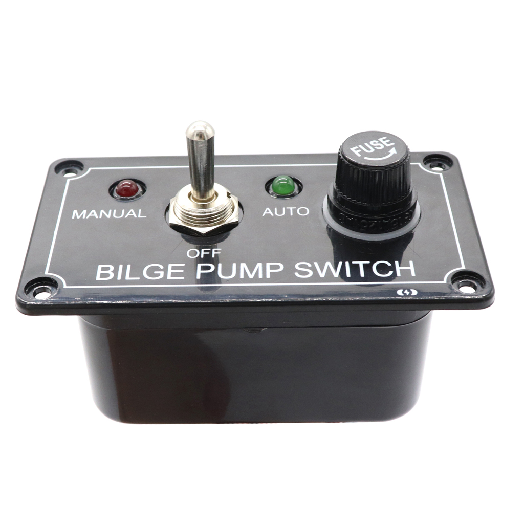 Fused Marine Bilge Pump Switch Panel, 3 Way Toggle Switch, With LED Indicator Light, For Vehicle/ Truck/ Boat /Yacht /SUV