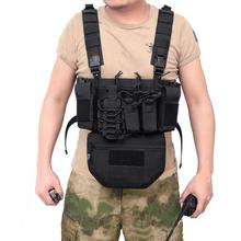 Hunting Tactical Vest Military Molle Magazine Airsoft CS Outdoor Nylon Chest Bullet Clip Pack Pouch