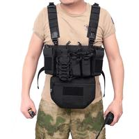 Hunting Tactical Vest Military Molle Tactical Magazine Vest Airsoft CS Outdoor Nylon Military Vest Chest Bullet Clip Pack Pouch
