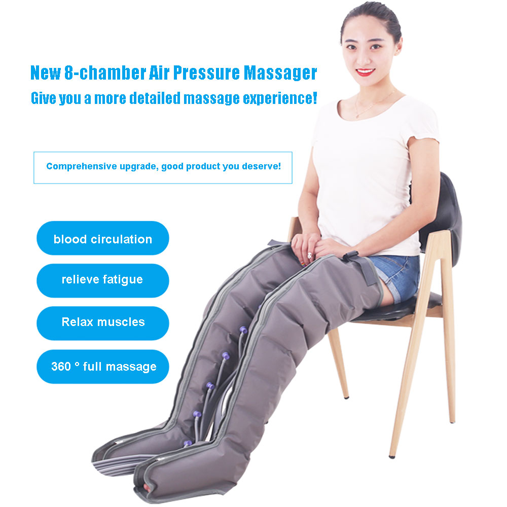 8 Air bags Electric Air Compression Massager Tall Man Waist Leg Pump Wraps Foot Ankles Calf Massage Presoterapia Pain Relaxation|Leg Massage Apparatus|   - AliExpress