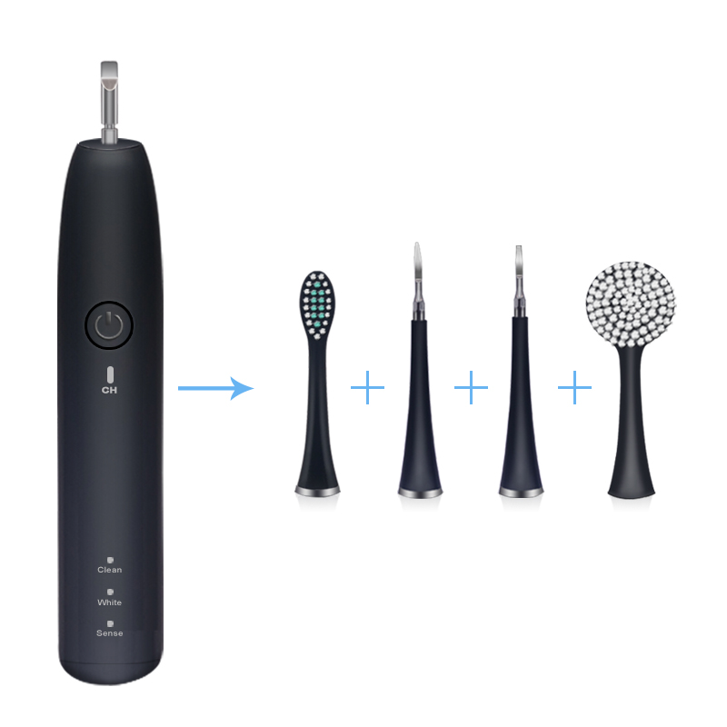 4in1 Multifunctional Acoustic Electric Toothbrush Sonic Cleaning Instrument CalculusTartar Removal Teeth Clean Dental Tools