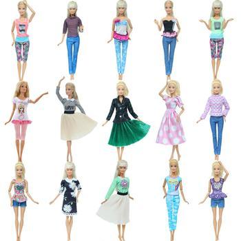 Hurtownie moda strój lalki odzież na co dzień spódnica topy T-shirt spodnie spodnie sukienka ubrania dla Barbie akcesoria dla lalek zabawki dla dzieci tanie i dobre opinie BJDBUS Tkanina CN (pochodzenie) Fit for 11 5 -12 (30cm) doll Dziewczyny Fantasy DOLLS ARE NOT INCLUDED 1x Dress Dolls Are Not Including