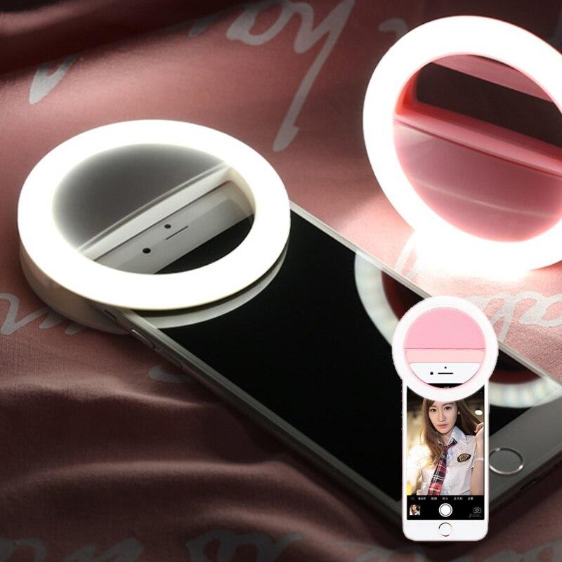 Ring Light Mini LED Lamp Fill-in Phone Light Selfie Light for IPhone Samsung Smartphone PC Portable Clip-on Selfie Lamp