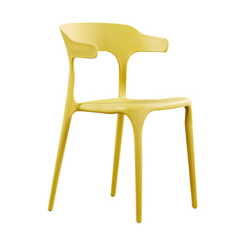 Nordic ins modern minimalist plastic chair office  home thickened dining  cafe casual horn