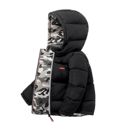 Boys Coats Winter Kids down cotton jacket Childrens' jacket Parka for Girl Camouflage Wearable on both sides Baby Clothing