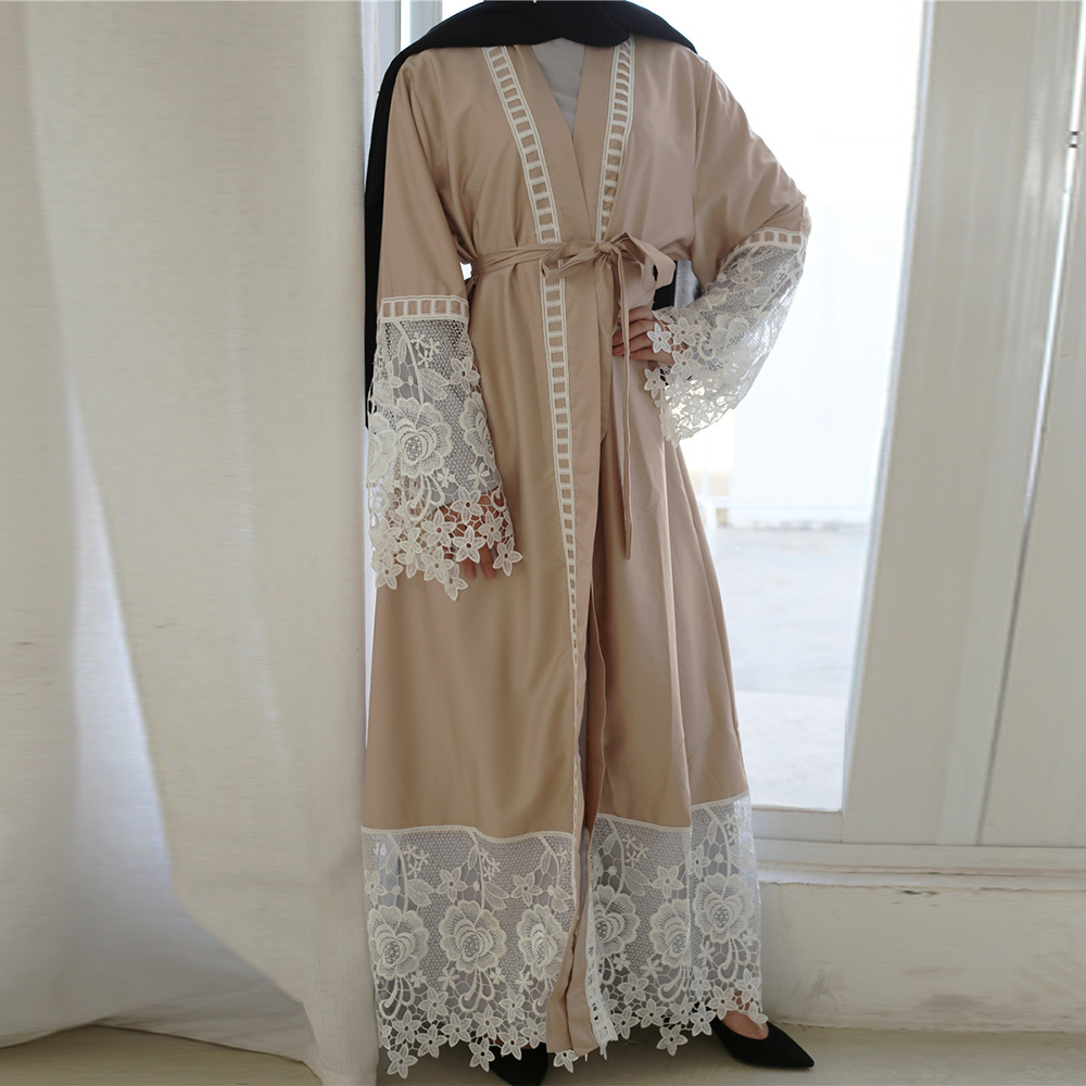 Eid Mubarak Arabic Abaya Dubai Turkey Kimono Cardigan Plus Size Hijab Muslim Dress Caftan Turkish Islamic Clothing For Women