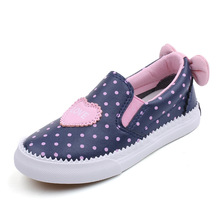 Children PU Leather Shoes Girls Sneakers Slip on Polka Dot 2019  Fashion Kids Casual for Trainers