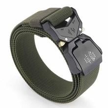 Aluminium Alloy Outdoor Military Tactical Belt Men Handiness Cargo Belt Thick Tactical Designer Belts 125cm Adjustable Straps