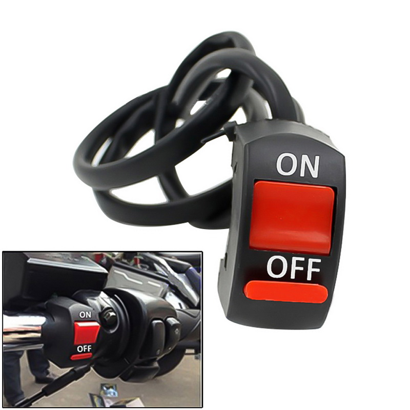 TOSPRA Universal Motorcycle Double Flash Light <font><b>Handlebar</b></font> Flameout Control <font><b>Switch</b></font> ON OFF Button For Moto Motor ATV <font><b>Bike</b></font> 1 Pc 22mm image