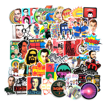 50pcs The Big Bang Theory Cartoon Stickers TV Series For Car Laptop Phone Skateboard Motorcycle Bicycle Sticker F3 - discount item  30% OFF Classic Toys