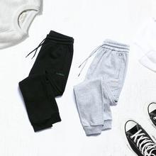 SIMWOOD 2020 אביב מקרית חדש מכנסיים אצן גברים רקמת שרוך בתוספת גודל נוח אלסטי מותניים מכנסי טרנינג 180528