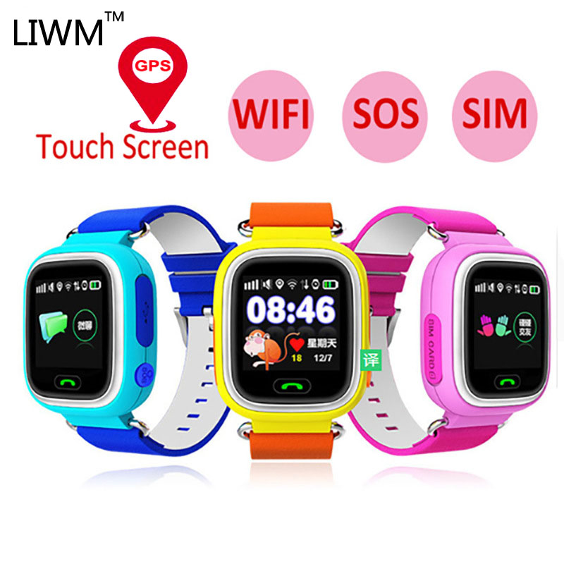 LIWM Q90 GPS Smart Watch Phone Position Children  Watch WIFI Color Touch Screen GPS Positioning SOS Smart Baby Watch Q50 Q80 Q60