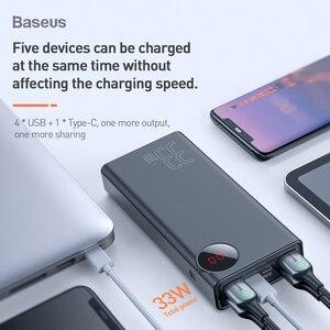 Image 3 - Baseus Quick Charge 3.0 30000 MAh Power Bank Type C PD 30000 MAh PowerbankแบบพกพาภายนอกสำหรับiPhone xiaomi Mi