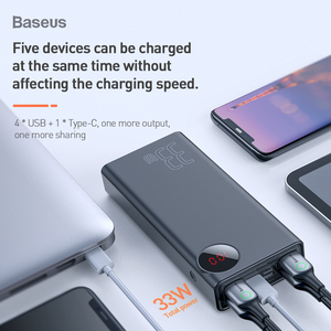 Image 3 - Baseus Quick Charge 3.0 30000mAh Power Bank Type C PD 30000 mAh Powerbank Portable External Battery Charger For iPhone Xiaomi Mi