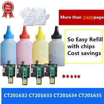 [Tóner + chip] compatible con Fuji, Xerox Docuprint CP305d CP305 CM305df CM305 305d 305df Color de polvo de tóner