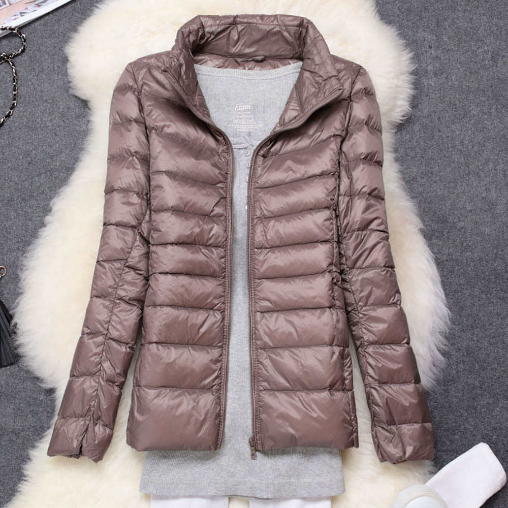 Ultra Light Duck Down   Jackets   Women Long Sleeve Hooded Winter Warm Coat Long Sleeve Slim Plus Size 7XL Outwear   Basic     Jacket   Lady